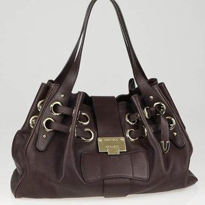 Authentic Jimmy Choo Brown Leather Ramona Tote